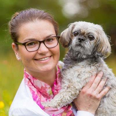 Fotoshoot vrouw en hond