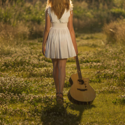 Fotoshoot gitaar muziek