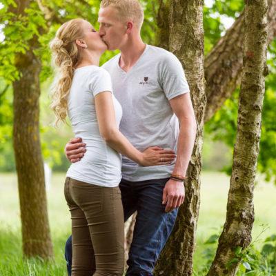 Loveshoot op locatie Heide Wezep
