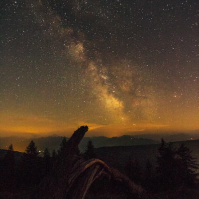 Milky way oostenrijkse alpen