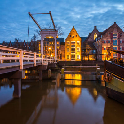 Thorbecke gracht tijdens blue hour