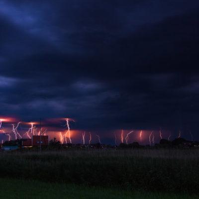 bliksemschichten in de mastenbroeken polder