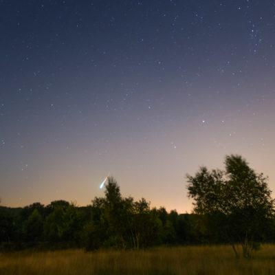 fireball van de perseiden meteoren