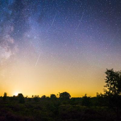 persieden meteoren en de melkweg