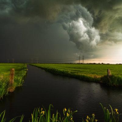 Onweer polder Mastenbroek