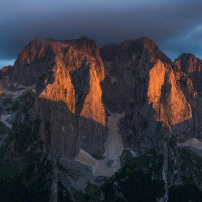 Balkan bergen zonsondergang