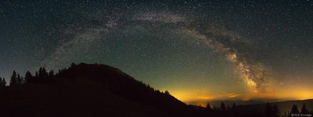 Melkweg in de Alpen van Oostenrijk