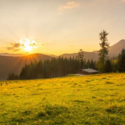 Alpen in Oostenrijk sunset