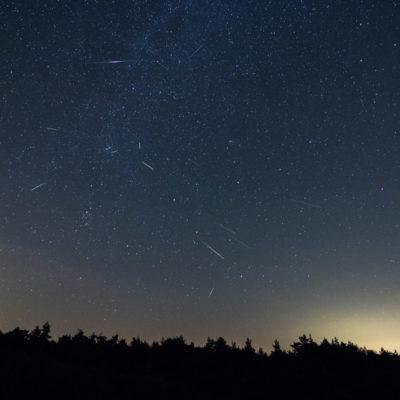 Meteoren regen de perseiden