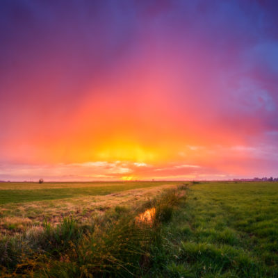 beautiful sunset polder mastenbroek