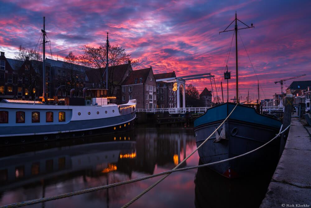 Zonsondergang Zwolle