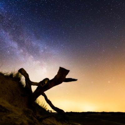 Melkweg timelapse op kootwijkerzand
