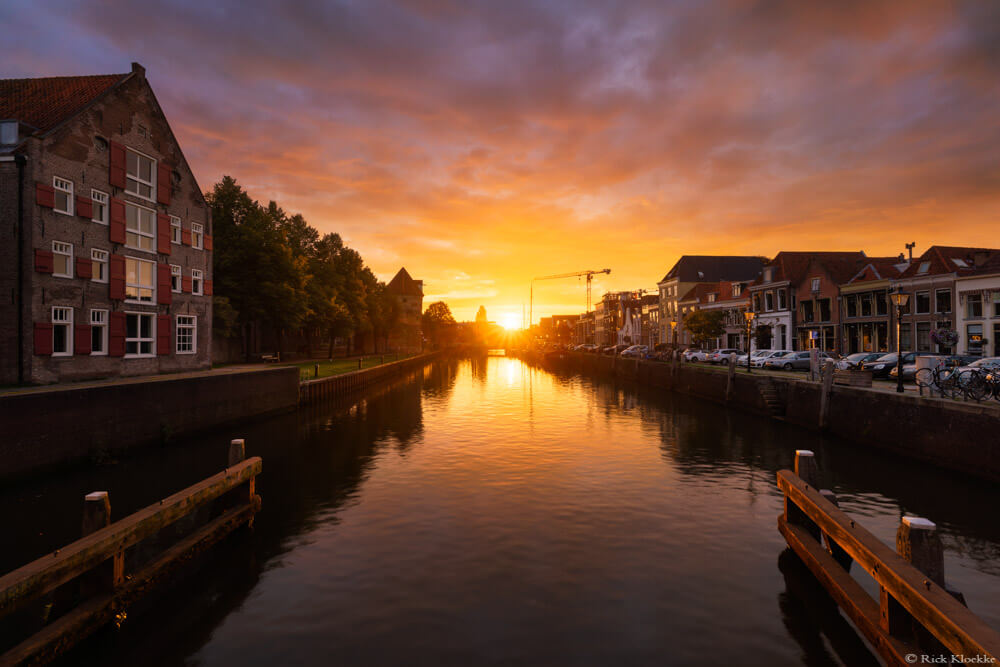 Zonsondergang Thorbecke Gracht