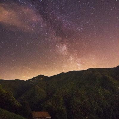 Melkweg in het Italiaanse lanschap