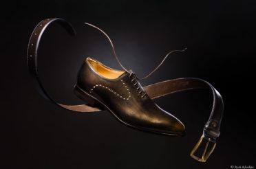 Vallende schoen – Productfotografie (BTS)