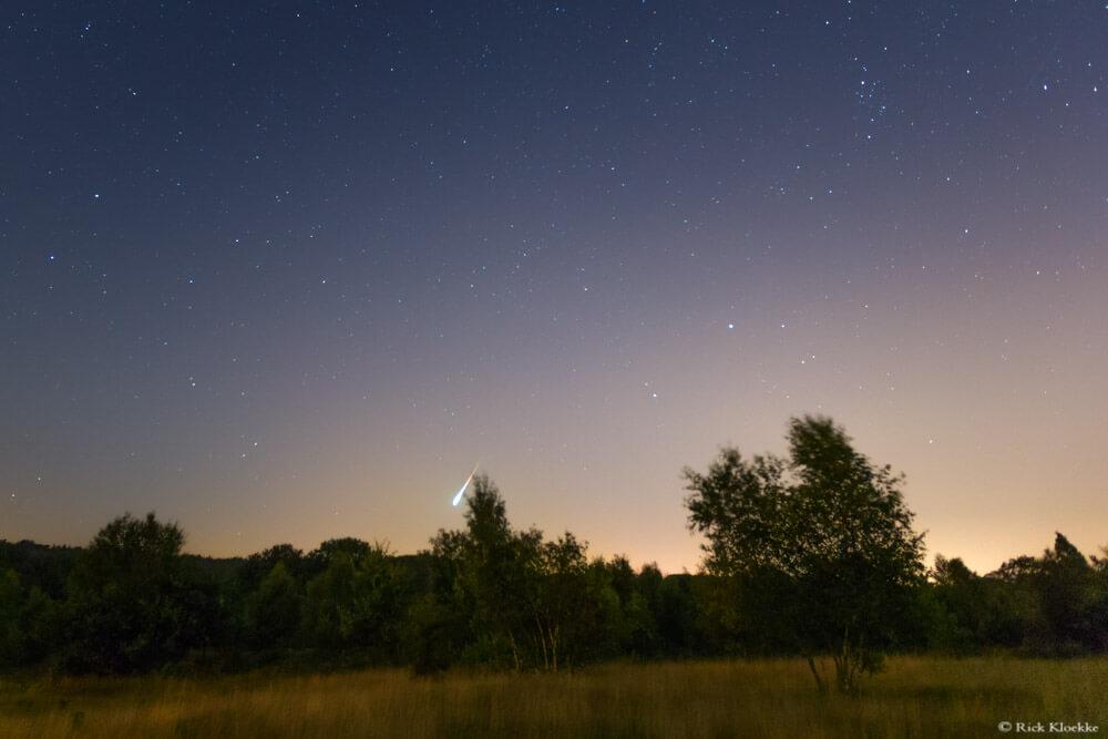 Perseiden meteorenregen bolide