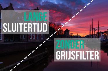 Lange sluitertijd foto zonder filter! – Tutorial video