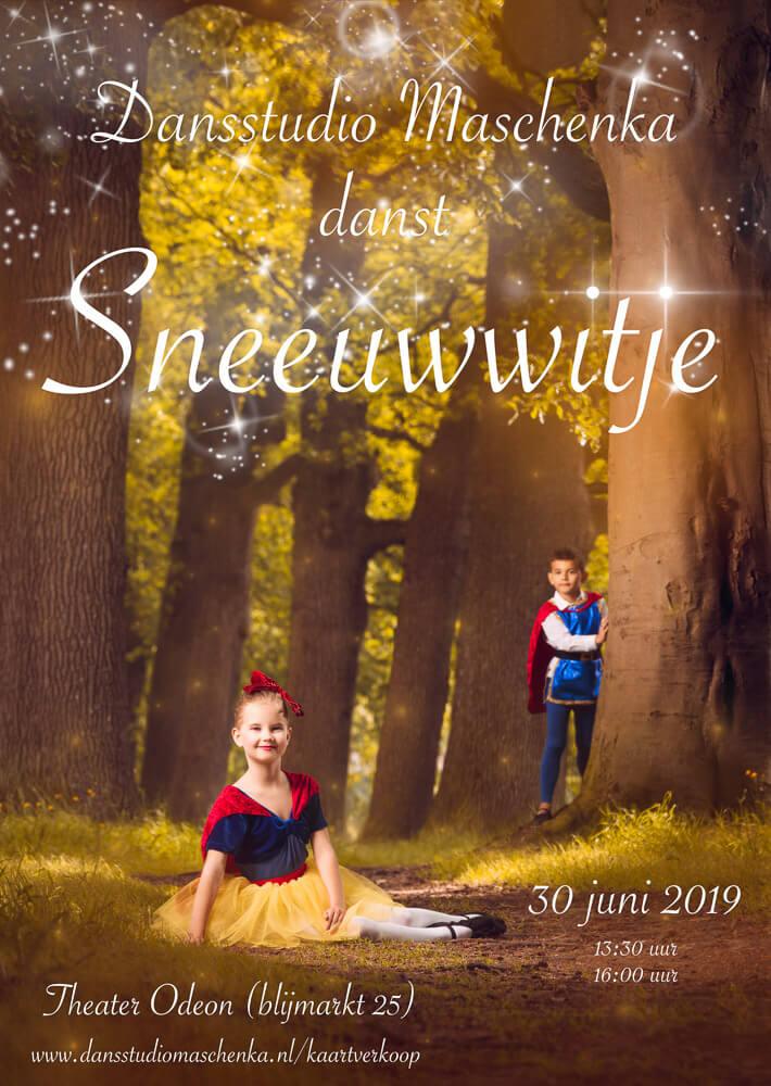 Poster voor de eindvoorstelling van Dansstudio Maschenka in Zwolle