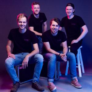 DJ groep Kleurrijk groepsfoto