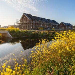 Sfeerfoto's aanbouw nieuwe wijk Breezicht