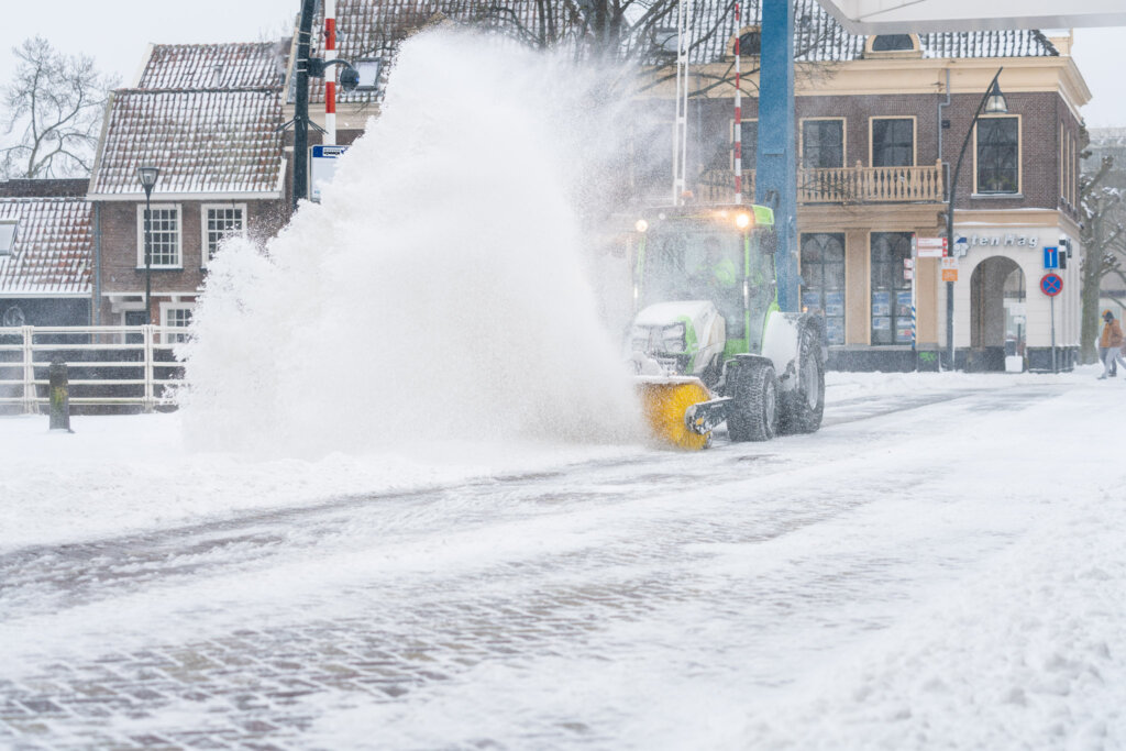 bedrijfsfoto's sneeuwruimen